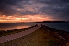 Заход солнца Shoalhaven Стоковые Изображения RF