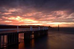 Заход солнца Shoalhaven Стоковая Фотография