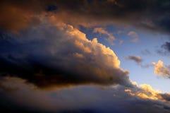 заход солнца skyscape Стоковые Изображения RF