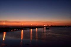 Заход солнца St Kilda Стоковое Изображение RF
