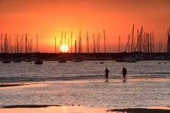 Заход солнца St Kilda Стоковые Фотографии RF