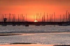 Заход солнца St Kilda Стоковые Изображения