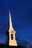 заход солнца steeple 3 церков Стоковые Изображения RF
