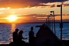 заход солнца stroll стоковое изображение rf