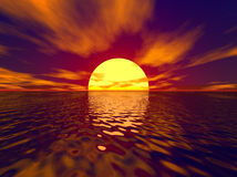 заход солнца sunbeam Стоковая Фотография