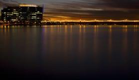 заход солнца tempe горизонта Аризоны Стоковые Изображения