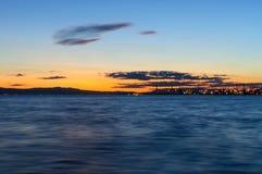 Заход солнца Thessaloniki Стоковые Изображения RF