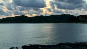 Заход солнца Timelapse Gili Kute Lombok акции видеоматериалы