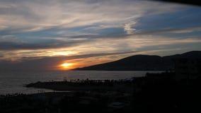 Заход солнца Timelapse /Incredible в горах видеоматериал