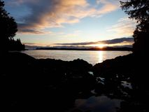Заход солнца Tofino Стоковая Фотография RF