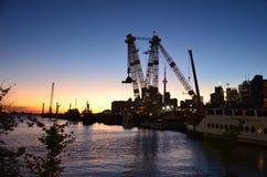 заход солнца toronto стоковая фотография rf