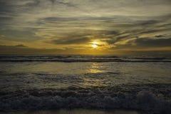 Заход солнца tyrrhenian моря Стоковые Изображения RF