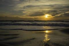 Заход солнца tyrrhenian моря Стоковые Фотографии RF