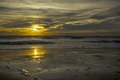 Заход солнца tyrrhenian моря Стоковое Изображение