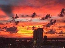Заход солнца West Palm Beach стоковая фотография