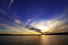 заход солнца wisconsin Стоковое Фото
