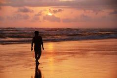 заход солнца yogyakarta parangtritis Стоковое Фото