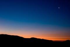 заход солнца yosemite Стоковое фото RF