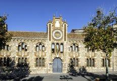 Захолустный исторический архив Теруэль Испания стоковые фотографии rf