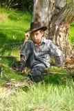 захолустье bushland мальчика неровное Стоковая Фотография