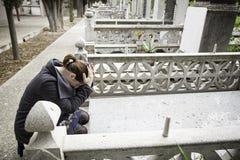 Захоронение девушки моля Стоковое Изображение RF