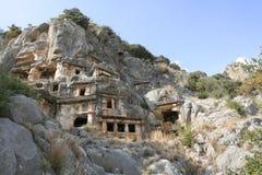 Захоронение Lycian Стоковое Фото