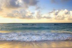 заход солнца Барбадосских островов Стоковая Фотография RF