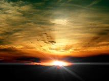 заход солнца восхода солнца неба Стоковая Фотография