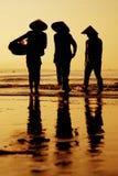 заход солнца Вьетнам Стоковые Фотографии RF