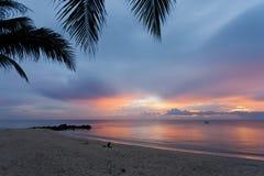 Заход солнца в Таиланде Стоковое Изображение