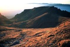 заход солнца горы Стоковая Фотография RF
