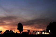 заход солнца захолустья Стоковое Изображение RF