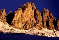 заход солнца Италии доломита Стоковое фото RF