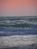 заход солнца конца Стоковые Изображения