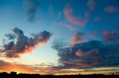 заход солнца ландшафта Стоковые Фото