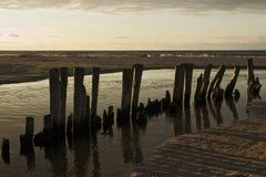 Заход солнца над Балтийским морем Стоковое Изображение