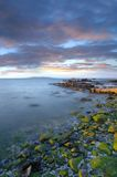 Заход солнца над заливом Дублин Стоковая Фотография RF