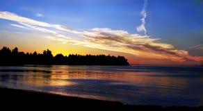 заход солнца океана Стоковое Изображение RF