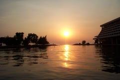 заход солнца осени Стоковые Фото