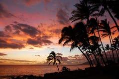 заход солнца острова Стоковое фото RF
