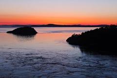 Заход солнца Сан Жуан Стоковое Изображение RF
