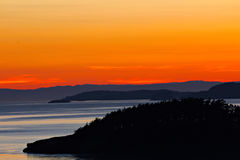 Заход солнца Сан Жуан Стоковая Фотография RF