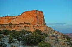 заход солнца скалы Стоковое Изображение RF