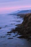 заход солнца скалы Стоковая Фотография