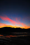заход солнца угрызения фьорда Стоковое Изображение