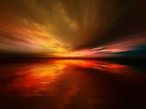 заход солнца яркий Стоковые Изображения RF