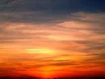 заход солнца 4 неб Стоковое Изображение RF