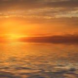 заход солнца Стоковое Изображение