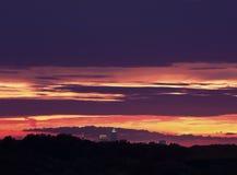 заход солнца cleveland цветастый излишек Стоковое фото RF