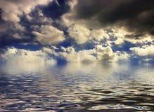 заход солнца cloudscape Стоковое Изображение